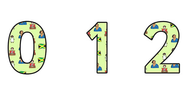Mary Seacole Themed A4 Display Numbers - mary seacole, display numbers, themed number, classroom number, numbers for display, a4 numbers, number