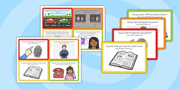 Challenge Cards Police Station Arabic Translation - arabic, police