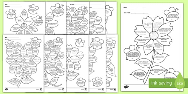 EYFS Reception (FS2) Assessment Flowers
