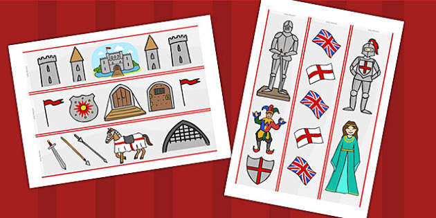 Castles and Knights Display Borders - castle, knight, history