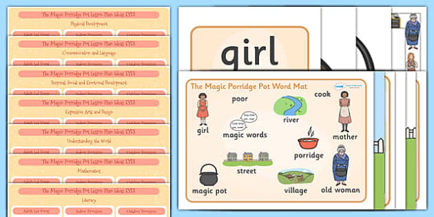 The Magic Porridge Pot EYFS Lesson Plan and Enhancement Ideas - stories, ideas