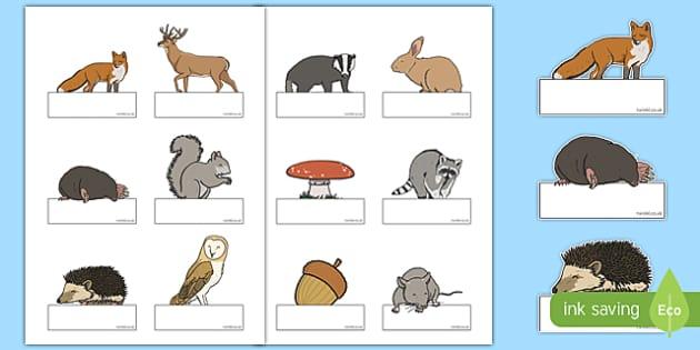 Woodland Creatures Self-Registration Labels
