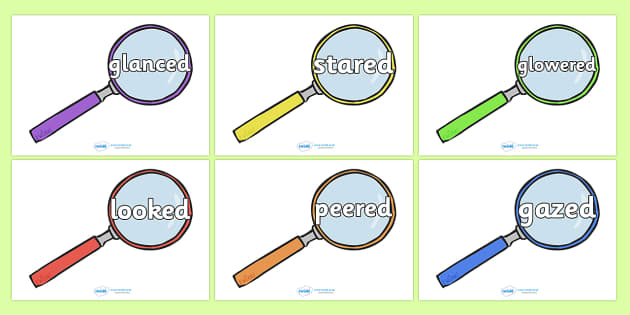 Alternative Words for Looked Display Posters - Extending vocabulary, descriptive words, adjectives, adjective poster, literacy area, writing area