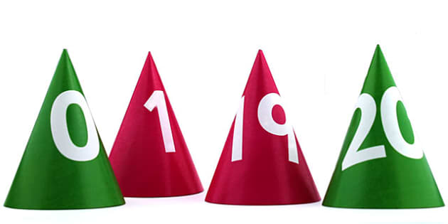 Number Cones 0 20 - count, counting aid, counting, numbers, maths