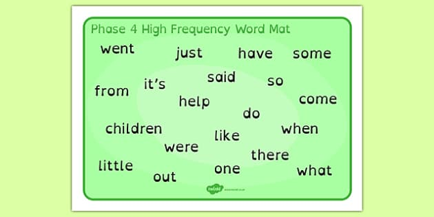 Phase 4 High Frequency Word Mat Dyslexia - phase 4 high frequency words, phase 4 hfw mat, phase 4 high frequency words in dyslexia font, dyslexia word mat