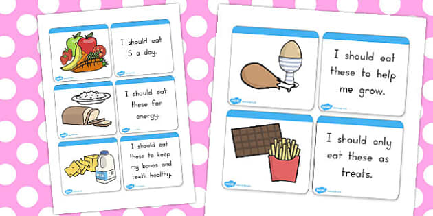 Food Group Matching Cards - food groups, eating, health, food