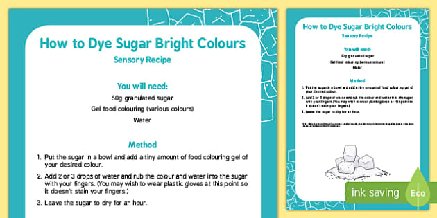 How to Dye Sugar Bright Colours Recipe
