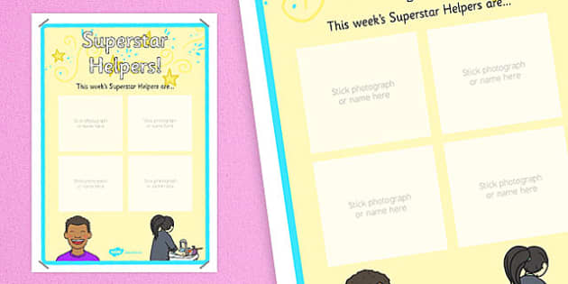Superstar Helpers Display Poster - display, rewards, celebration, KS1, KS2