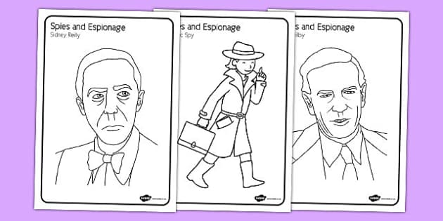 Spies and Espionage Colouring Pack - spies, espionage, colouring pack, home education