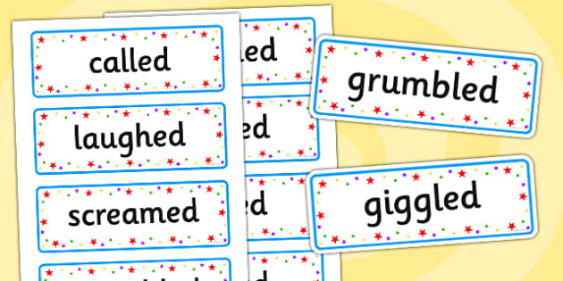 Words Instead Of Said Word Cards - said, words, word cards, cards