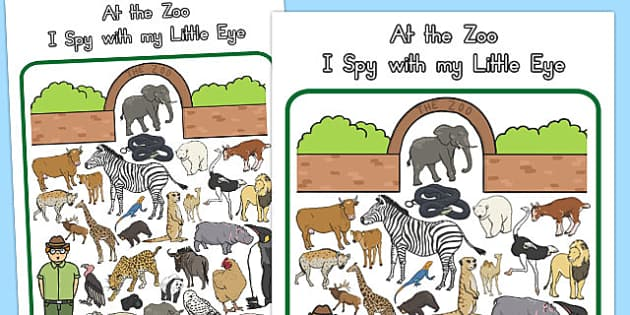At the Zoo Themed I Spy With My Little Eye Activity - australia