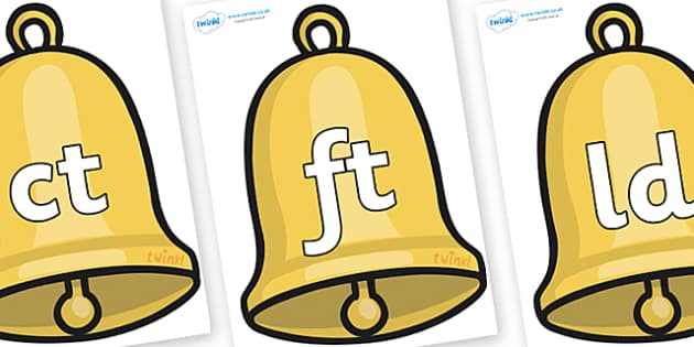 Final Letter Blends on Christmas Bell - Final Letters, final letter, letter blend, letter blends, consonant, consonants, digraph, trigraph, literacy, alphabet, letters, foundation stage literacy