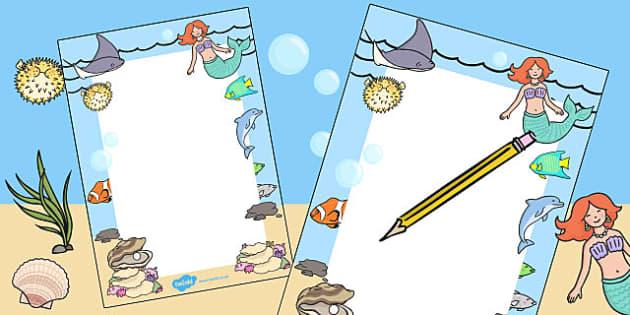Mermaid Themed Editable Notes - praise notes, teacher notes