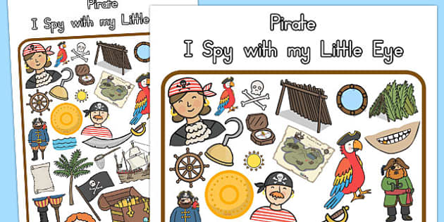 Pirate Themed I Spy With My Little Eye Activity - australia, eye
