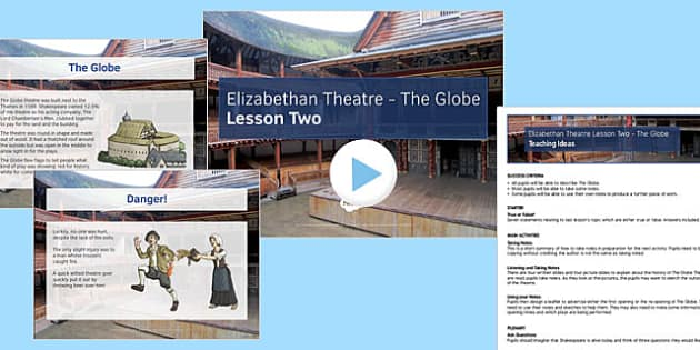 Introduction to Shakespeare Lesson Pack 3: Elizabethan Theatre Lesson Pack 2