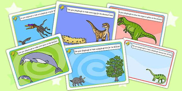 Realistic Dinosaurs Playdough Mats - dinosaur, playdough mats