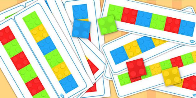Block Colour Matching Cards Set 2 - match, activity, activities