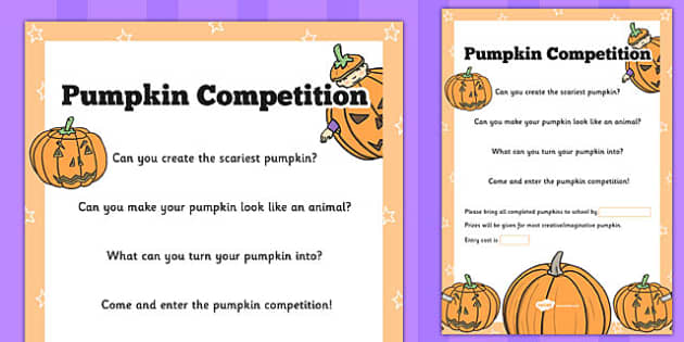 Create Your Own Pumpkin Poster - assembly, whole school, information, competition, activity, rules, instructions, ks1, ks2, early years, design, art, home, nature, making