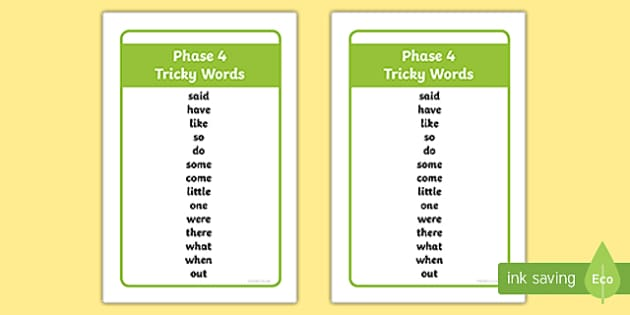 Ikea Tolsby Phase 4 Tricky Words Prompt Frame