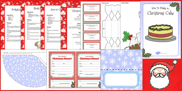 Mrs Claus Christmas Dinner Role Play Pack - christmas, role-play