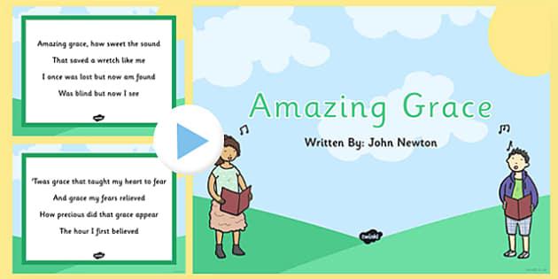 Amazing Grace Hymn Lyric PowerPoint - amazing grace, hymn, lyric, powerpoint