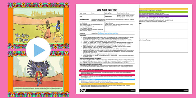 Diwali Parachute Game EYFS Adult Input Plan and Resource Pack