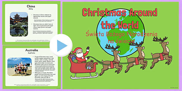 Christmas Around the World PowerPoint Polish Translation - polish, christmas, around the world
