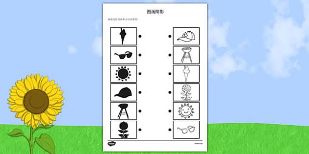 夏日阴影配对作业, worksheet