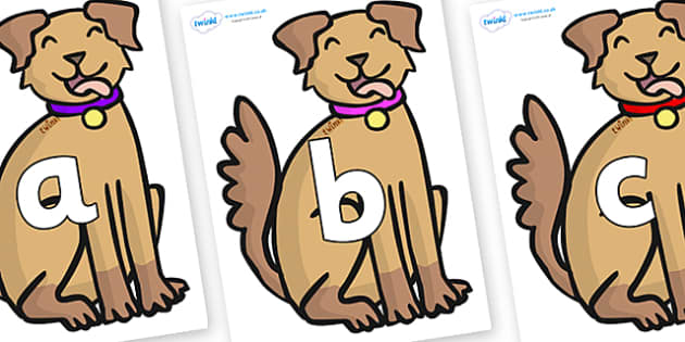 Phoneme Set on Dogs - Phoneme set, phonemes, phoneme, Letters and Sounds, DfES, display, Phase 1, Phase 2, Phase 3, Phase 5, Foundation, Literacy