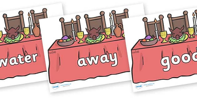 Next 200 Common Words on Dining Tables - Next 200 Common Words on  - DfES Letters and Sounds, Letters and Sounds, Letters and sounds words, Common words, 200 common words