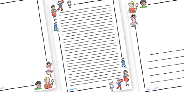 Monday's Child Page Borders - Monday's Child, page border, border, writing template, frame, nursery rhyme, rhyme, rhyming, nursery rhyme story, nursery rhymes, days of the week, weekdays, Monday's Child resources, day
