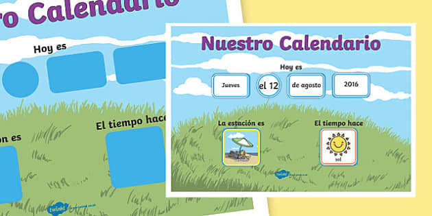 Nuestro Calendario Daily Weather Calendar Weather Chart Long Date Format Spanish - spanish, daily, weather, calendar, weather chart, long date