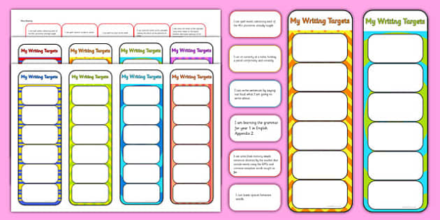 2014 Curriculum Year 1 English Writing Assessment Bookmarks