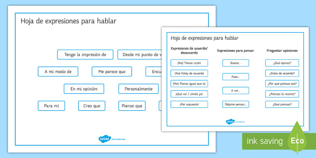 Expressions for Discussions and Debates Word Mat - Spanish Speaking Practice, debates, discussion, word mat, expressions, target language