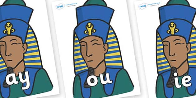 Phase 5 Phonemes on Pharaohs - Phonemes, phoneme, Phase 5, Phase five, Foundation, Literacy, Letters and Sounds, DfES, display