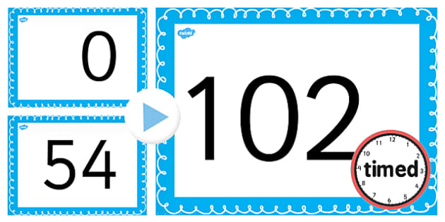 Counting On and Back in 6s up to 102 PowerPoint - counting, 6