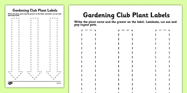 Elderly Care Gardening Plant Labels - Elderly, Reminiscence, Care Homes, Gardening Club