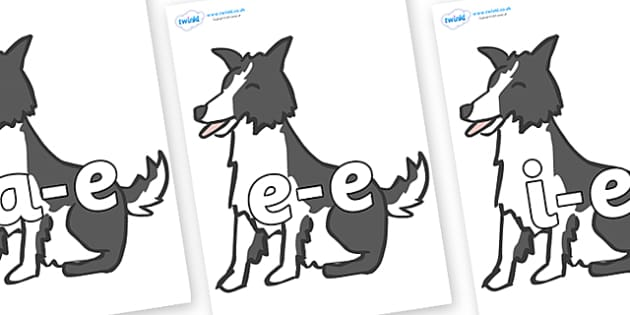 Modifying E Letters on Sheep Dogs - Modifying E, letters, modify, Phase 5, Phase five, alternative spellings for phonemes, DfES letters and Sounds
