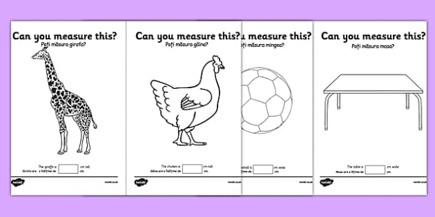 Measuring in cm Activity Sheets Romanian Translation - centimetre, centimetres, measure, measurement, ssm, length, ruler, romania, eal, maths, worksheet