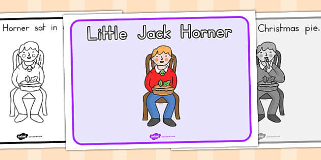 Little Jack Horner Story Sequencing - Australia, Little, Jack