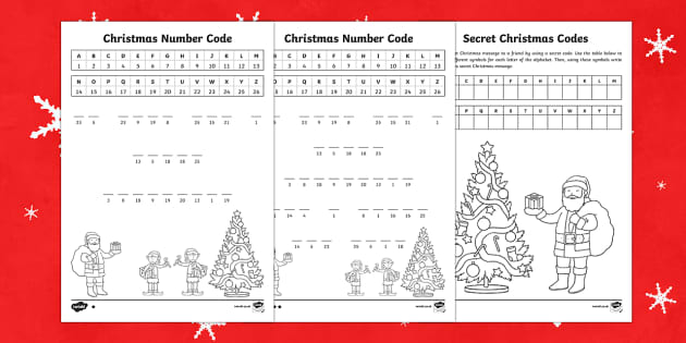 Christmas code puzzles Activity Pack