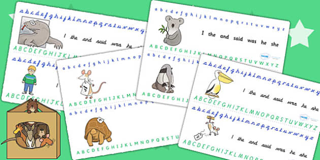 Alphabet Strips to Support Teaching on The Great Pet Sale - pets, animals, alphabet, a-z