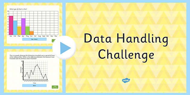 Data Handling Challenge PowerPoint - data handling, challenge, powerpoint