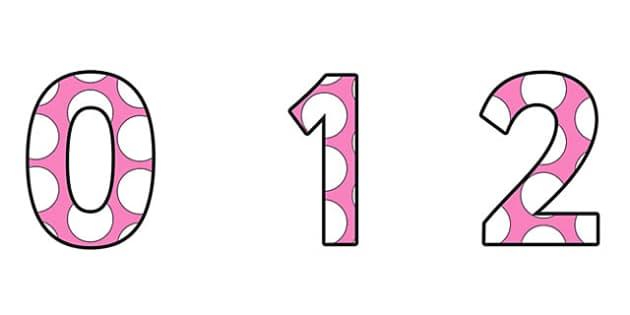 Polka Dots Display Numbers -  spots, displays, number, dot, spot