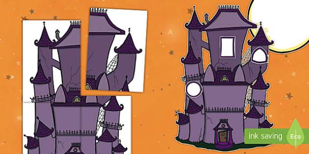 Halloween Haunted House Door Display Cut-Outs