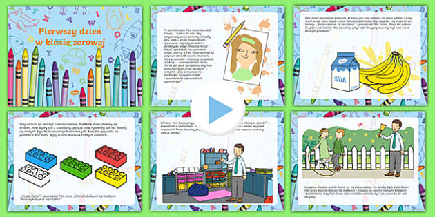 EYFS starting reception editable powerpoint story Polish-Polish