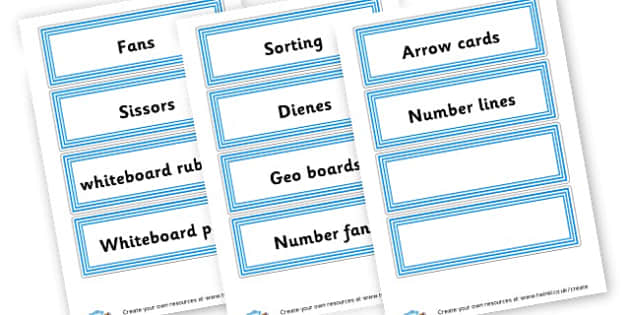 Draw Labels - Resource Labels Primary Resources, resource, label, drawer labels