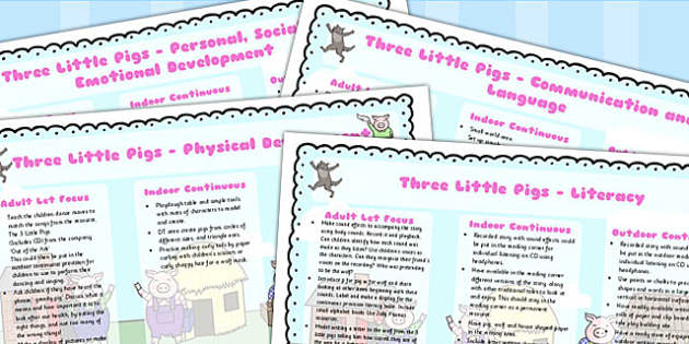 The Three Little Pigs Lesson Plan EYFS - australia, lesson plan