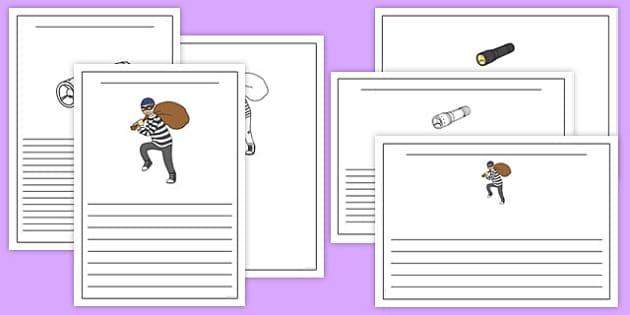 Burglar Writing Frames - burglar bill, burglar, writing frames