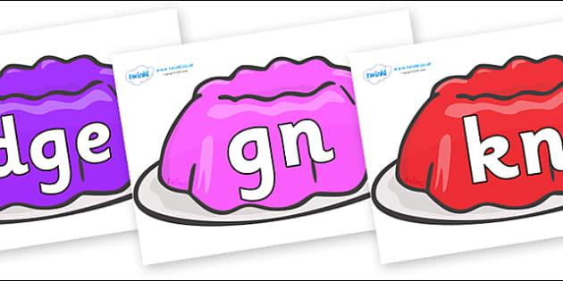 Silent Letters on Jelly - Silent Letters, silent letter, letter blend, consonant, consonants, digraph, trigraph, A-Z letters, literacy, alphabet, letters, alternative sounds